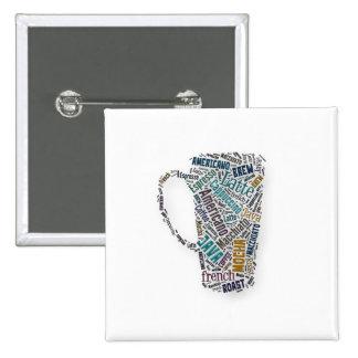 Fun Sayings Quote - Coffee, Java, … … 15 Cm Square Badge