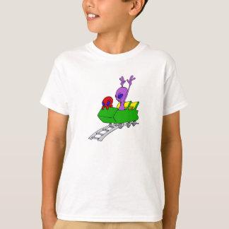 Fun & Scared Alien on Coaster T-Shirt