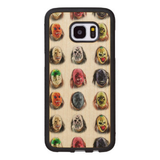 Fun Scary Mask Pattern Wood Samsung Galaxy S7 Edge Case