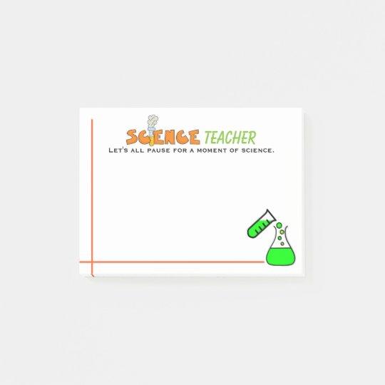 Fun Science Teacher Post-it Notes