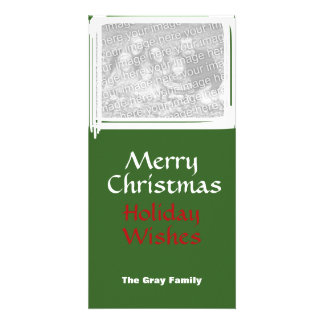 Fun Scribbles Christmas Frame Family Photo Insert Personalized Photo Card