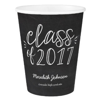 Fun Script Chalkboard Graduation Paper Cup