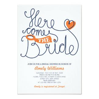 Fun Script Lettering Bridal Shower Invite