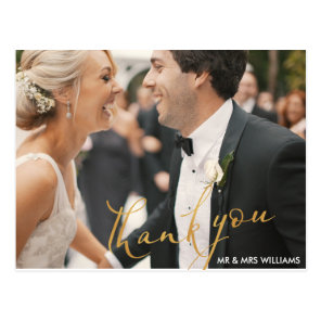 fun script   wedding thank you card