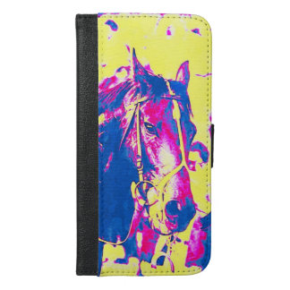 Fun Seattle Slew Thoroughbred Racehorse Watercolor iPhone 6/6s Plus Wallet Case