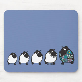 Fun Shabby Sheep Mousemat