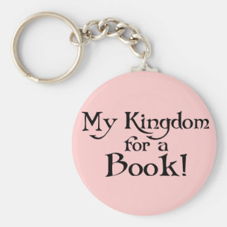 Fun Shakespeare My Kingdom for a Book T-shirt Basic Round Button Key Ring