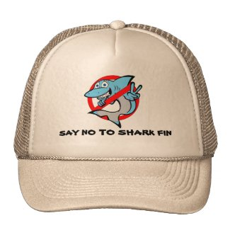 Fun shark design hat. Say no to shark fin! Trucker Hat