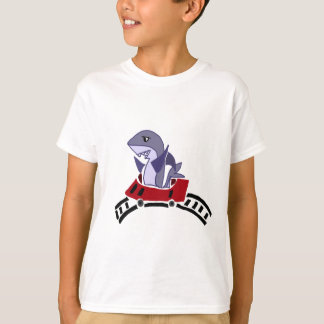 Fun Shark Riding on Roller Coaster T-Shirt