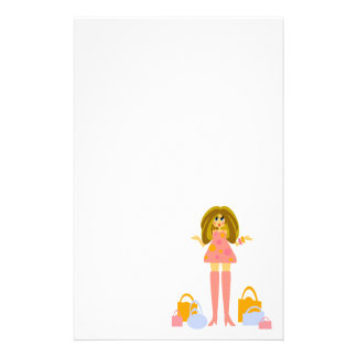 Fun Shopping Themed Stationery