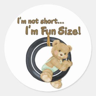 Fun Size Teddy Round Sticker