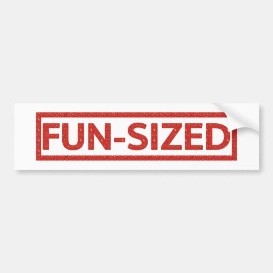 Fun-sized Stamp Bumper Sticker