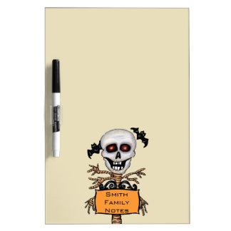 Fun Skull With Tree Body Personalized Orange Sign Dry Erase Board