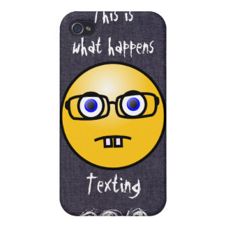 Fun Smiley Face Eye Glasses Case iPhone 4 Covers For iPhone 4
