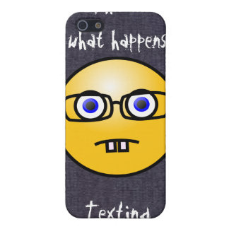 Fun Smiley Face Eye Glasses Case iPhone 4 iPhone 5/5S Cover