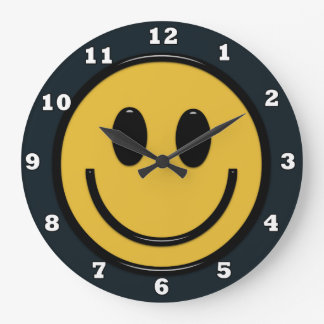 Fun Smiley face Hippie wall clock