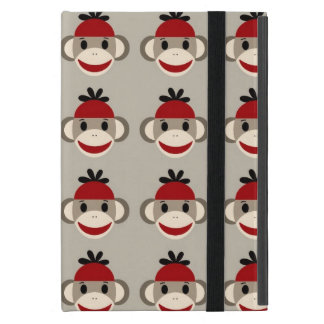 Fun Smiling Red Sock Monkey Happy Patterns Cover For iPad Mini