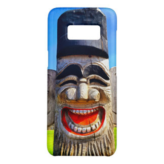 Fun smiling silly laughing teeth wooden face photo Case-Mate samsung galaxy s8 case