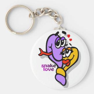 fun snake-love keychain