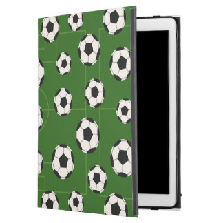 Fun soccer sports ball pattern tiled iPad pro case