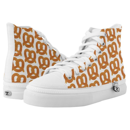 Fun Soft Pretzel Pattern High Tops