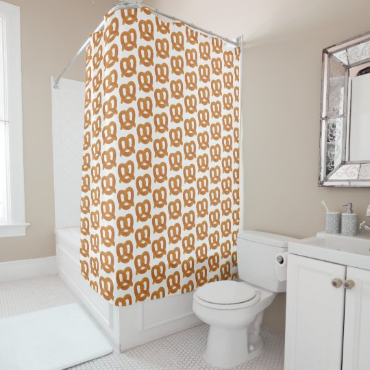 Fun Soft Pretzel Pattern Shower Curtain