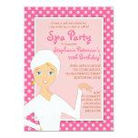 Fun Spa Girl Birthday Spa Party Invitation | Pink