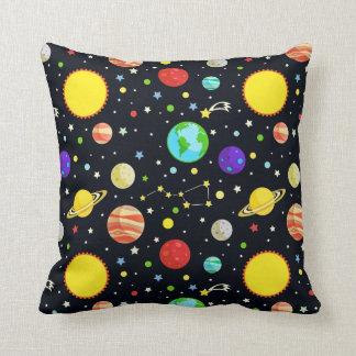 Fun Space Pattern Throw Pillow