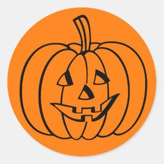 Fun Spooky Carved Pumpkin Halloween Sticker