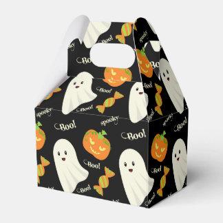 Fun Spooky Halloween Ghost Pumpkin Candy Pattern Favour Box