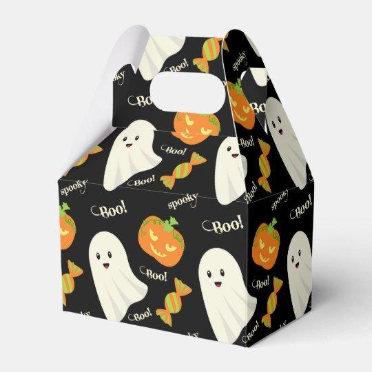 Fun Spooky Halloween Ghost Pumpkin Candy Pattern Favour
