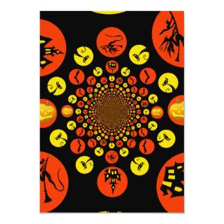 Fun Spooky Halloween Kaleidoscope Pattern Custom Invites