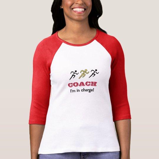 Fun sports coach runners custom text T-Shirt