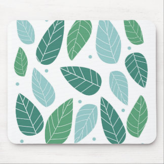 Fun Spring Leaves Mouse Pad