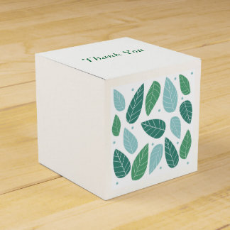 Fun Spring Leaves Party Favour Box