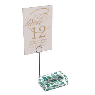 Fun Spring Leaves Table Card Holders