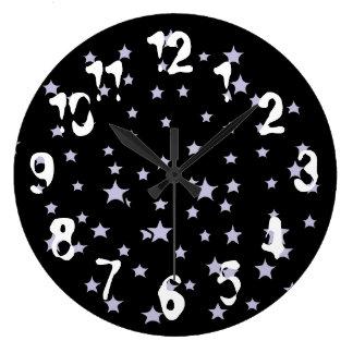Fun Starry Galaxy Black Wall Clock
