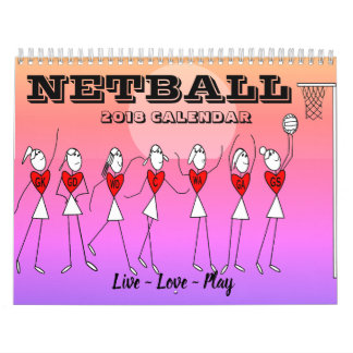 Fun Stick Figures Inspirational Quotes Netball Calendar