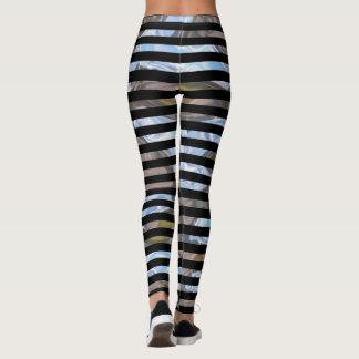 Fun Stripe Pipster Unique Cool Pattern Leggings