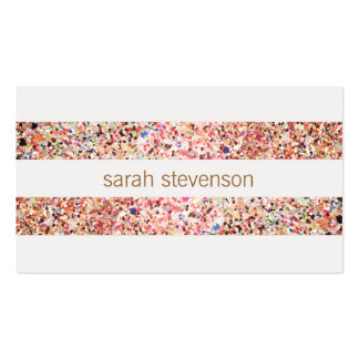 Fun Stripes Colorful Glitter Look Cute Cool Pack Of Standard Business Cards