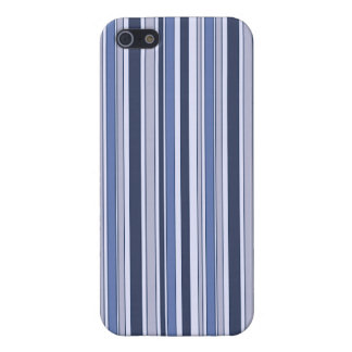 Fun Stripes Pattern in Shades of Blue iPhone 5 Cover