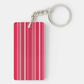 Fun Stripes Pattern in Shades of Pink Key Ring