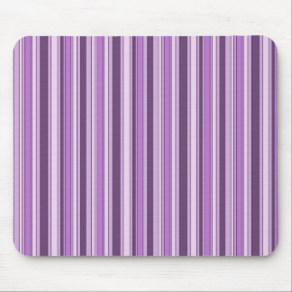 Fun Stripes Pattern in Shades of Purple Mouse Mat