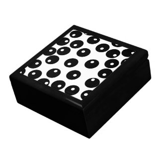 Fun stylish black and white pattern. Custom Gift Box