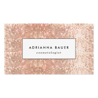 Fun Stylish Faux Copper Sequin Pattern Beauty Spa Pack Of Standard Business Cards
