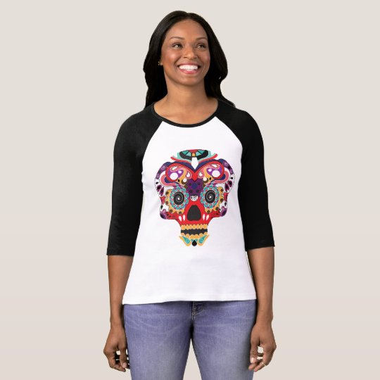 Fun Sugar Skull Colourful T shirt