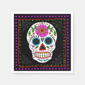 Fun Sugar Skull Napkins, Day of the Dead Disposable Napkin