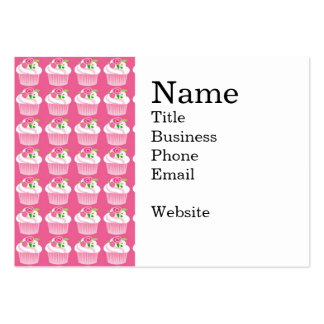 Fun Summer Birthday Hot Pink Cupcake Pattern Pack Of Chubby Business Cards