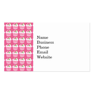 Fun Summer Birthday Hot Pink Cupcake Pattern Pack Of Standard Business Cards