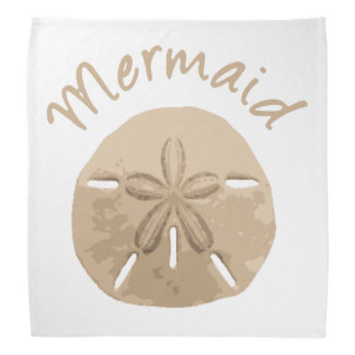 Fun Summer Holiday Mermaid Sand Dollar Art beach Bandana